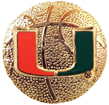 Miami Basketball Pin