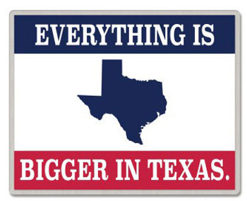 Texas Lapel Pin - Everything Is Bigger