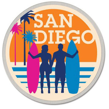 San Diego California Lapel Pin