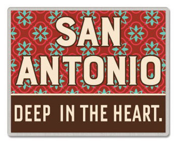 San Antonio Texas Pin - Deep In The Heart