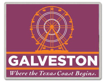 Galveston Texas Pin - Where The Texas Coast Begins
