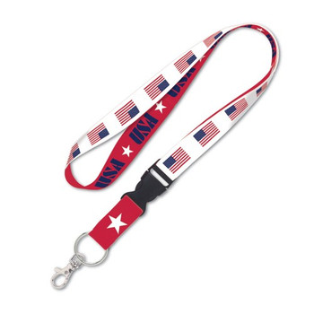 USA American Flag Detachable Patriotic Lanyard
