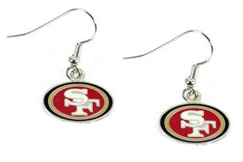 San Francisco 49ers Logo Earrings - Silver