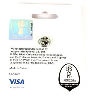 2018 FIFA World Cup Soccer Logo Pin - Silver