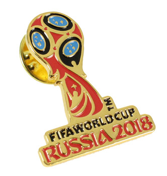 2018 FIFA World Cup Soccer Logo Pin - Gold