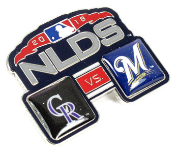 2018 NLDS Match Up Pin - Brewers vs. Rockies