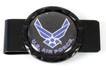 Air Force Diamond Cut Money Clip