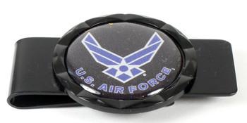 Air Force Diamond Cut Money Clip