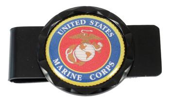 Marines Diamond Cut Money Clip