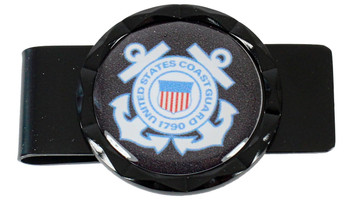 Coast Guard Diamond Cut Money Clip