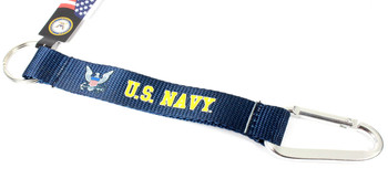 Navy Carabiner Key Chain