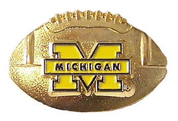 Michigan 3-D Football Pin