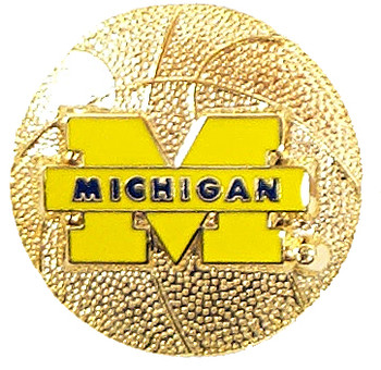 Michigan Basketball Pin