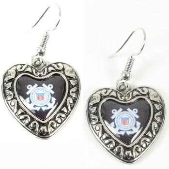 Coast Guard Charmed Heart Earrings