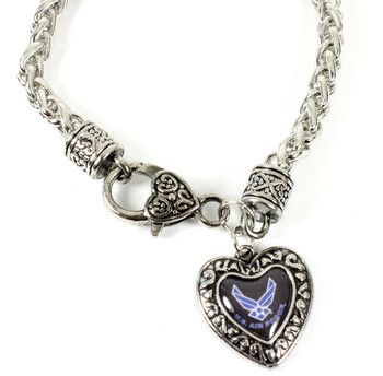 Air Force Charmed Heart Bracelet