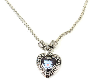 Coast Guard Charmed Heart Necklace