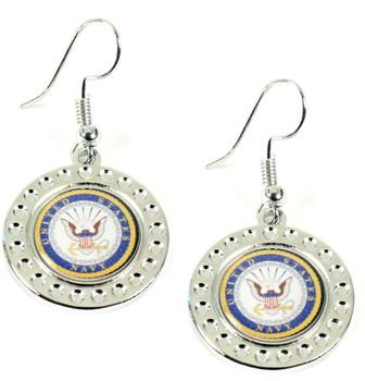 Navy Dimple Earrings