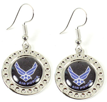 Air Force Dimple Earrings