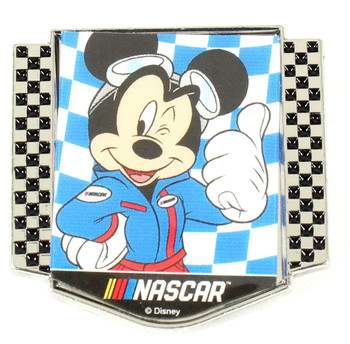 Mickey Mouse NASCAR Pin