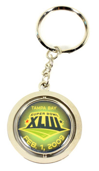 Super Bowl XLIII (43) Pittsburgh Steelers Champs Spinner Key Chain