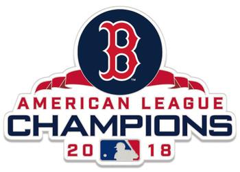 Boston Red Sox 2018 American League Champs Pin