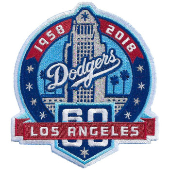 Los Angeles Dodgers 60th Anniversary Patch