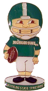 Michigan State Football Bobble Head Pin