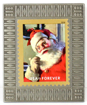 Santa Claus Christmas Forever Stamp Pin #3