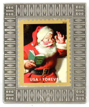 Santa Claus Christmas Forever Stamp Pin #4