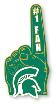 Michigan State #1 Fan Pin