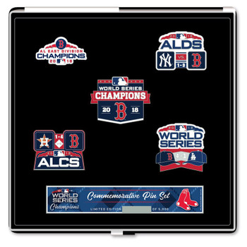 Boston Red Sox 2018 World Series Champs Five Pin Set - Limited 2,108