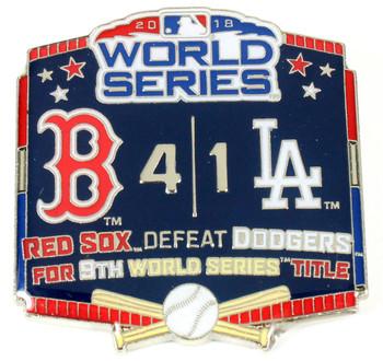 2018 World Series Commemorative Pin - Red Sox vs. Dodgers