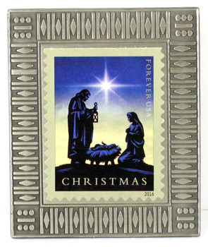 Jesus, Mary and Joseph Christmas Forever Stamp Pin