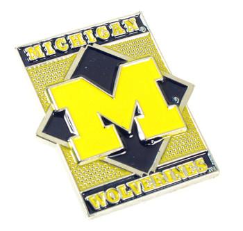 Michigan Wolverines Diamond Pin
