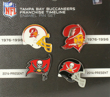 Tampa Bay Buccaneers Evolution Pin Set