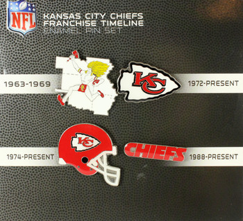 Kansas City Chiefs Evolution Pin Set