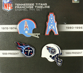 Tennessee Titans Evolution Pin Set