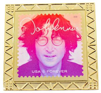 John Lennon Forever Stamp Pin 2