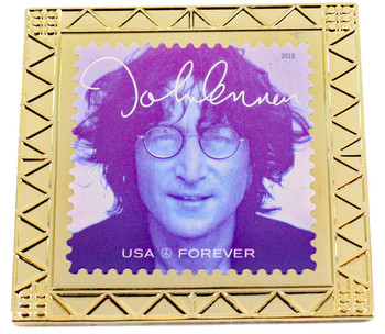 John Lennon Forever Stamp Pin 4
