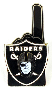 Oakland Raiders #1 Fan Pin