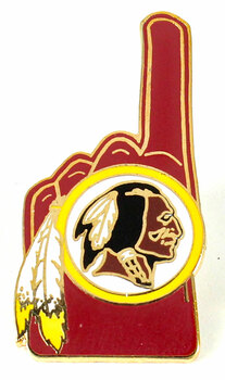 Washington Redskins #1 Fan Pin