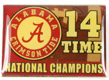 Alabama Crimson Tide 14 Time National Champs Pin