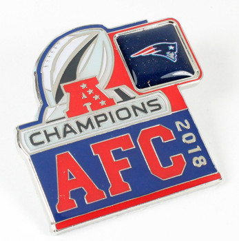New England Patriots 2018 AFC Champions Pin