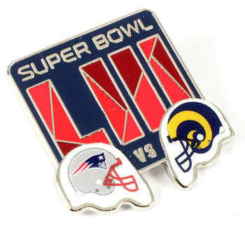 Super Bowl LIII (53) Patriots vs. Rams Head To Head Pin