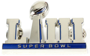 "Super Bowl LIII (53) Oversized 3-D Logo Pin - 2"""