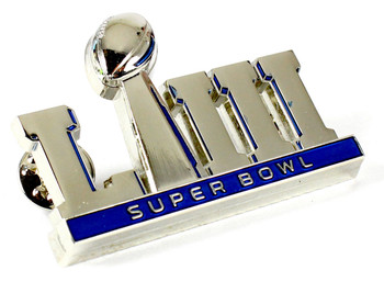 Super Bowl LIII (53) Oversized 3-D Logo Jumbo Pin - 2""