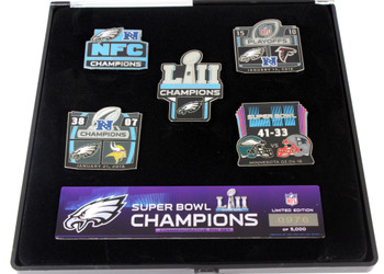 New England Patriots Super Bowl LIII (53) Champs Pin Set - Limited 5,000