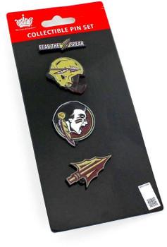 Florida State Seminoles Four Pin Collector Set