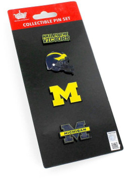 Michigan Wolverines Four Pin Collector Set