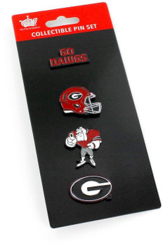 Georgia Bulldogs Four Pin Collector Set